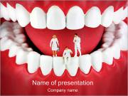 Teeth with Miniature Dentists PowerPoint Templates