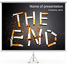 Smoking THE END I pattern delle presentazioni del PowerPoint