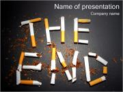 Smoking THE END PowerPoint Templates