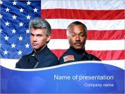 American Policemen PowerPoint Templates