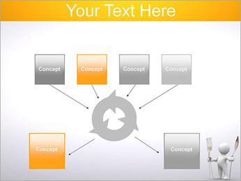 Homem com colher e forquilha Modelos de apresentações PowerPoint - Slide 10