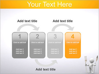 Homem com colher e forquilha Modelos de apresentações PowerPoint - Slide 11
