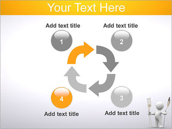 Homem com colher e forquilha Modelos de apresentações PowerPoint - Slide 14