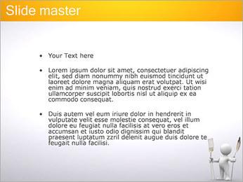 Homem com colher e forquilha Modelos de apresentações PowerPoint - Slide 2