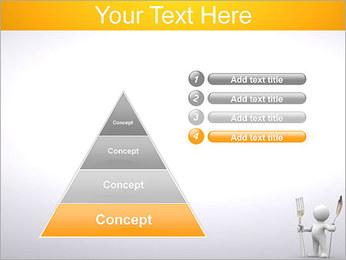 Homem com colher e forquilha Modelos de apresentações PowerPoint - Slide 22