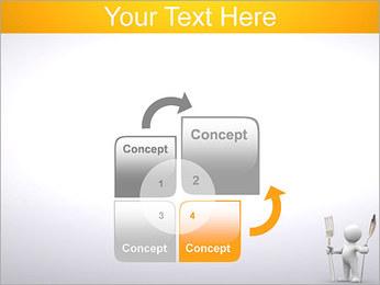 Homem com colher e forquilha Modelos de apresentações PowerPoint - Slide 5