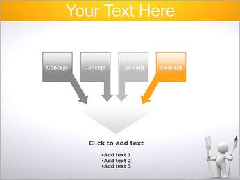 Homem com colher e forquilha Modelos de apresentações PowerPoint - Slide 8
