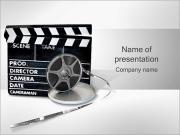Klapka rady a film cívka PowerPoint šablony
