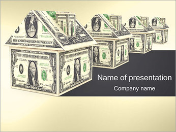 Dollar House Sjablonen PowerPoint presentatie