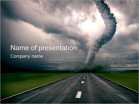 tornado powerpoint template & backgrounds id 0000001255, Modern powerpoint