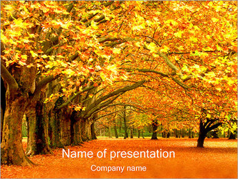 Fall in Park PowerPoint Template