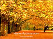 Fall in Park PowerPoint Templates