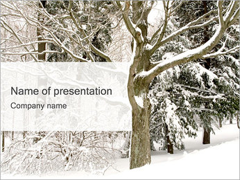 Winter Trees PowerPoint Template