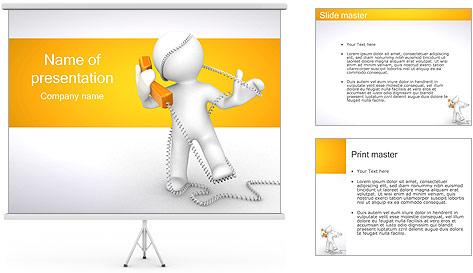 Enredado en teléfono Plantillas de Presentaciones PowerPoint
