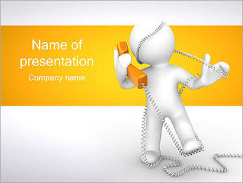 Enredado en teléfono Plantillas de Presentaciones PowerPoint - Diapositiva 1