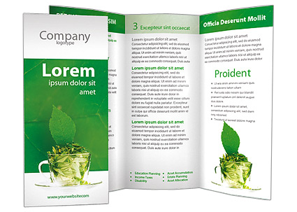 Green Tea Brochure Template & Design ID 0000001263 ...