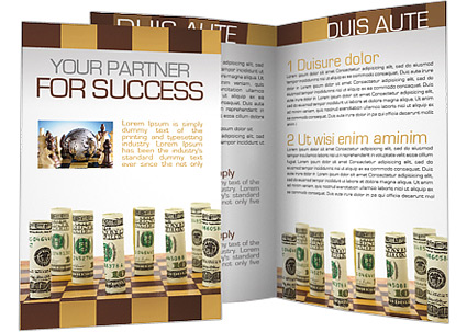 Money On Chess Board Brochure Template Design Id 0000001264