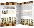 Money on Chess Board Brochure Template