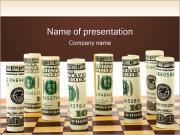 Money on Chess Board PowerPoint Templates