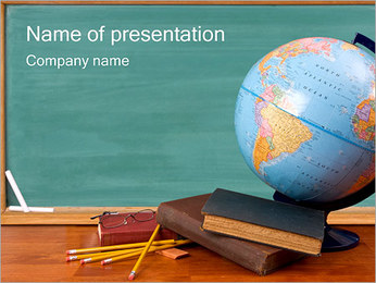 Education Desk PowerPoint Template
