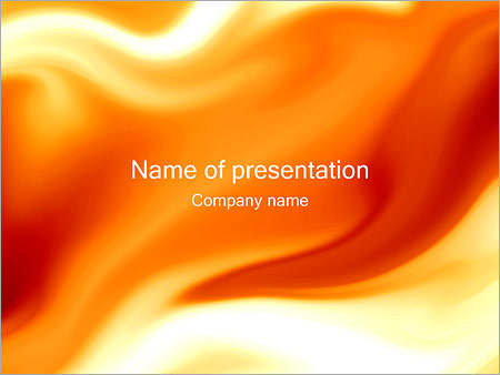 Abstract Orange Design PowerPoint Template