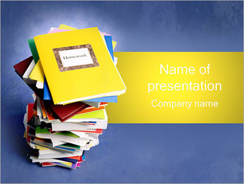 Homework Copybooks PowerPoint Template