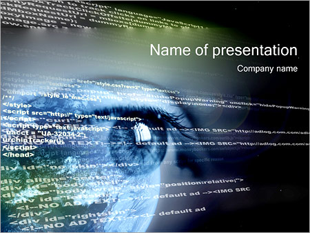 Look At Html Powerpoint Template Backgrounds Google Slides Id