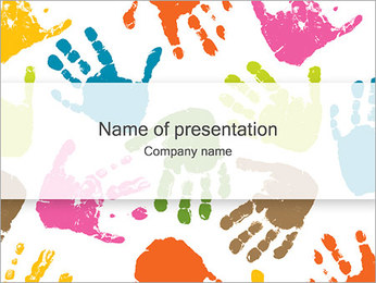 Empreintes de mains Modèles des présentations  PowerPoint