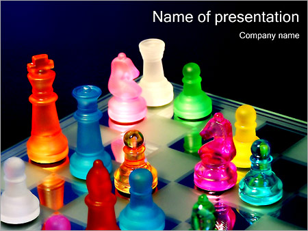 Colorful Chess Pieces PowerPoint Templates