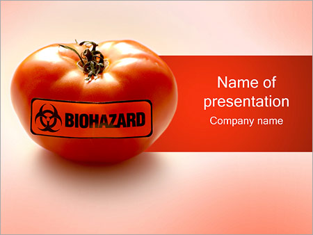 biohazard tomato powerpoint template backgrounds id 0000001282. Black Bedroom Furniture Sets. Home Design Ideas
