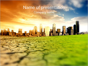 City Drought PowerPoint Template