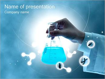 Chimica Provetta I pattern delle presentazioni del PowerPoint