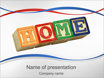 Word Home PowerPoint Template