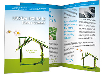 Green House Brochure Template Design ID - House brochure template