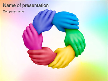 United Hands PowerPoint Template