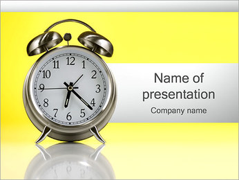 Alarm Clock PowerPoint Template