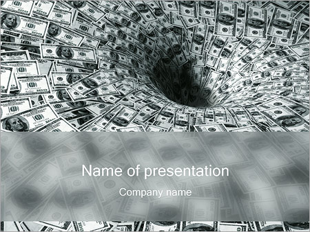 Dollars Funnel PowerPoint Template