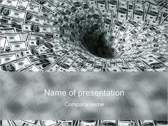 Dollars entonnoir Modèles des présentations  PowerPoint