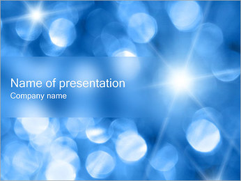 Blue Shine PowerPoint Template - Slide 1