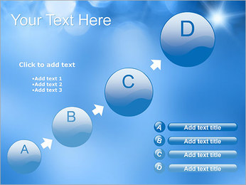 Blue Shine PowerPoint Template - Slide 15