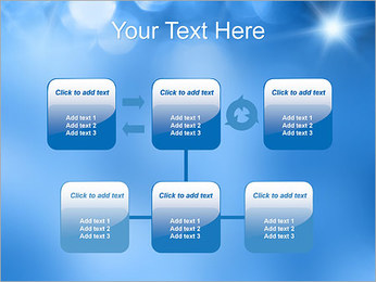 Blue Shine PowerPoint Template - Slide 23