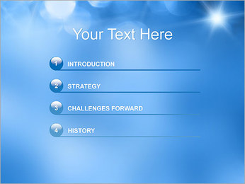 Blue Shine PowerPoint Template - Slide 3