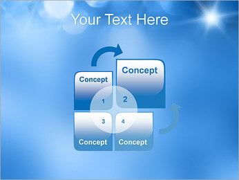 Blue Shine PowerPoint Template - Slide 5