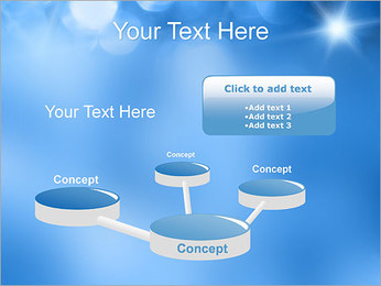 Blue Shine PowerPoint Template - Slide 9