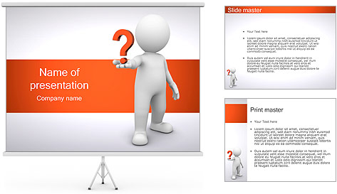 Man holding question powerpoint template backgrounds id for Powerpoint questions and answers template