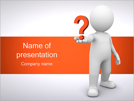 Man holding question powerpoint template backgrounds google man holding question powerpoint template toneelgroepblik Choice Image