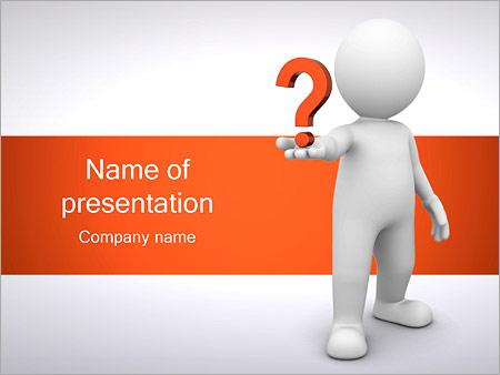 Man Holding Pergunta Modelos de apresentações PowerPoint
