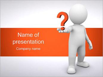 Man Holding Pergunta Modelos de apresentações PowerPoint - Slide 1