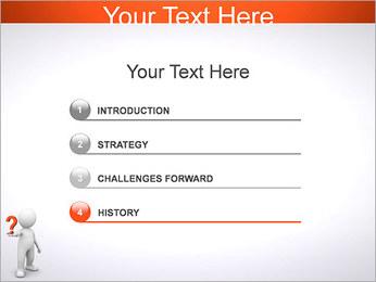 Man Holding Pergunta Modelos de apresentações PowerPoint - Slide 3