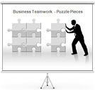 Business Teamwork Gráficos y diagramas para PowerPoint